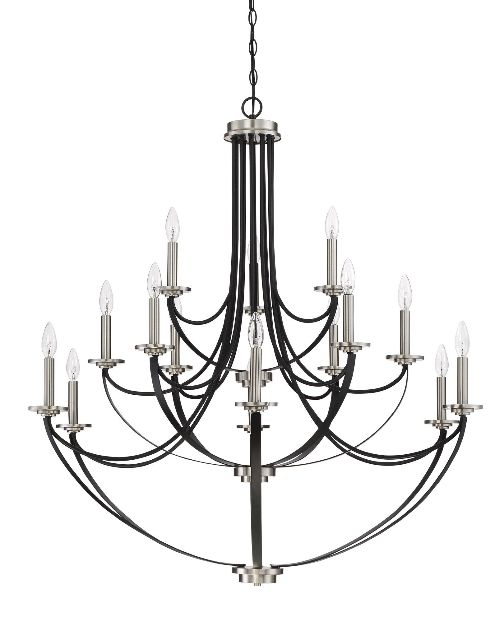 Cheyenne Mystic Black 15 Light Candle Style Chandelier