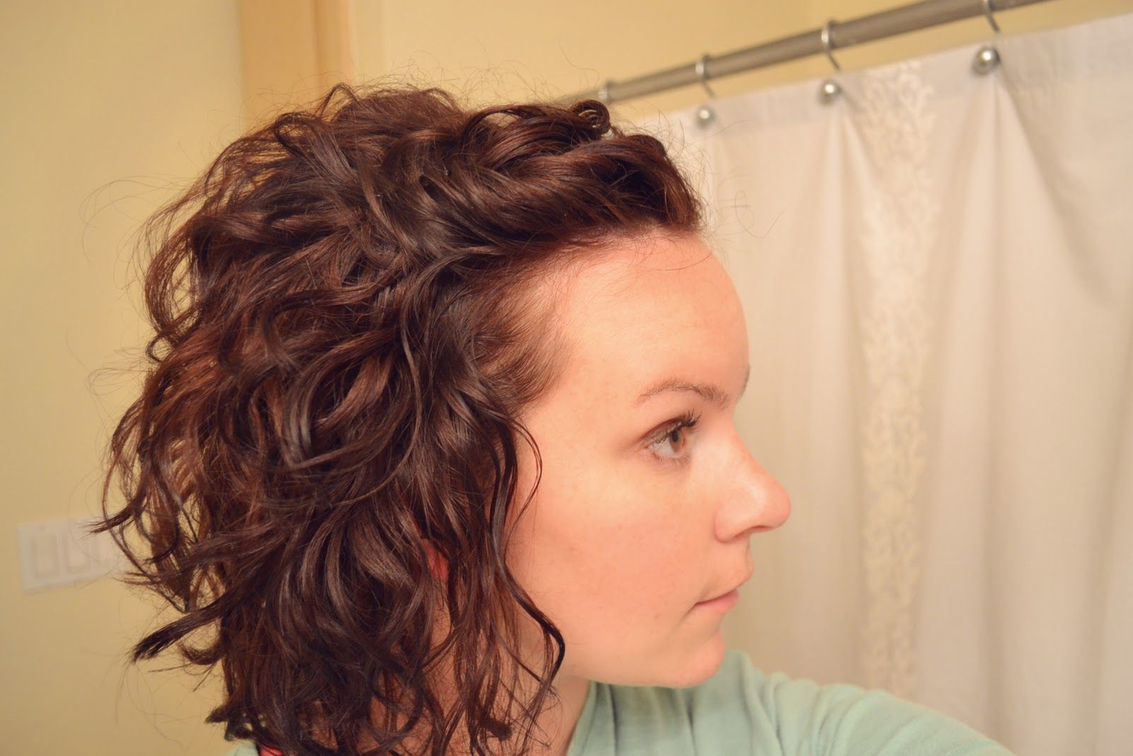 Inverted Curly Bob With Front Pinned Up Curly Hair Styles Naturally Curly Hair Styles Curly Hair Tips