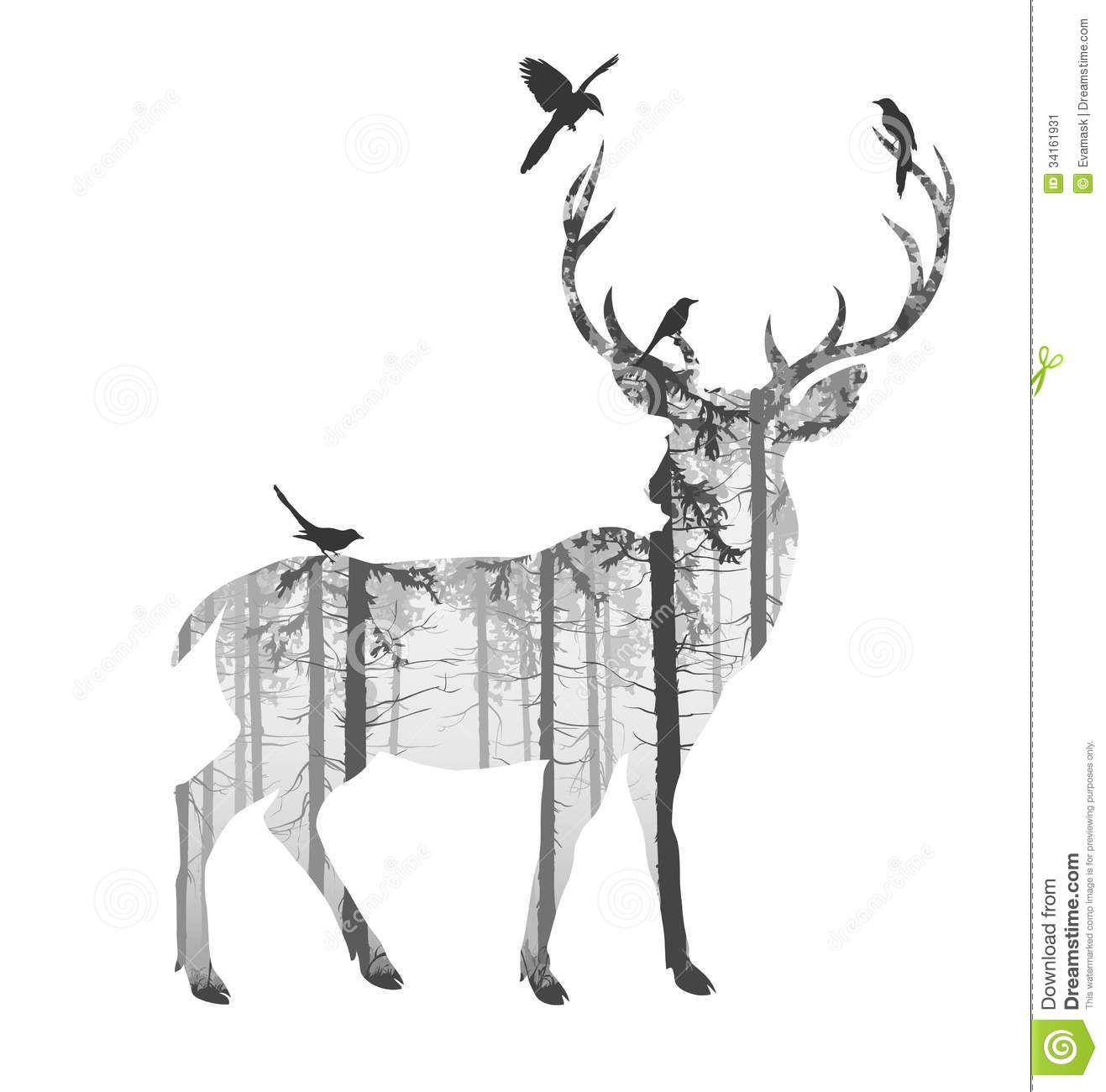 deer silhouette art � crafthubs tattoos pinterest