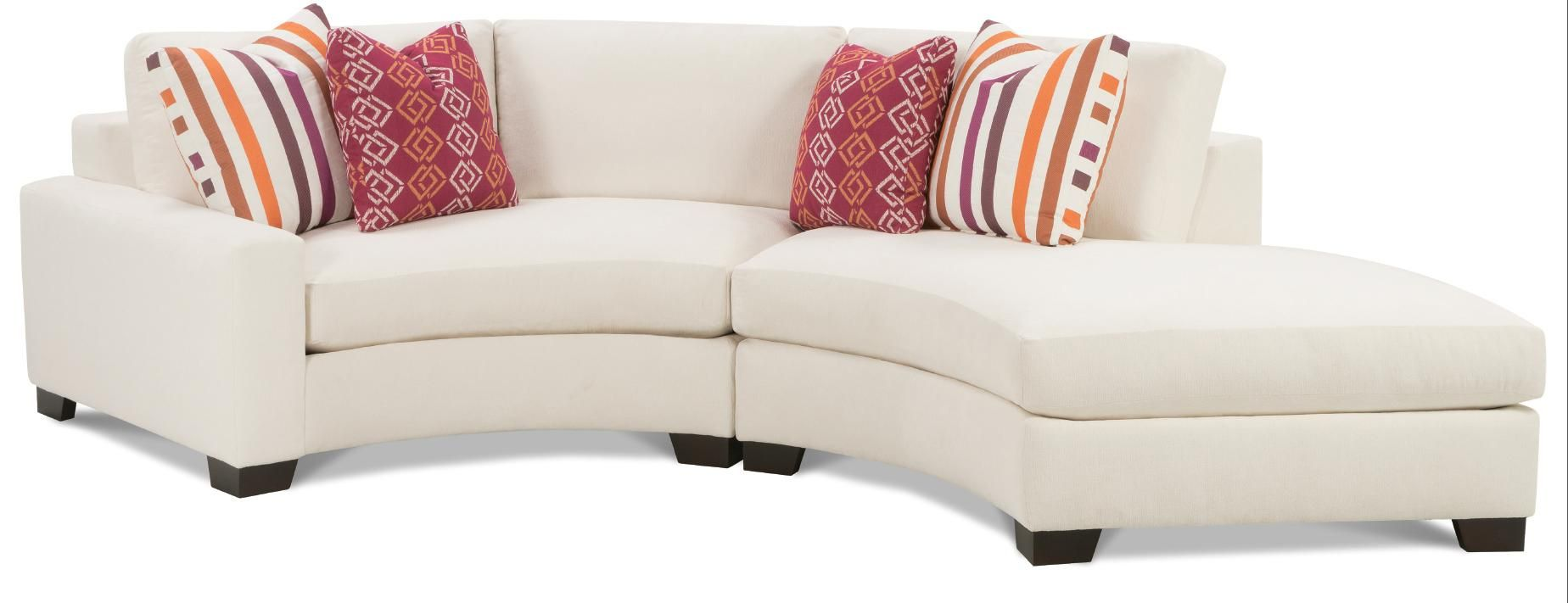 Fenwick Contemporary Two Piece Curved Sectional Sofa With Laf Chaise By Rowe Sprintz Furniture Nashville Franklin Bwood And Greater