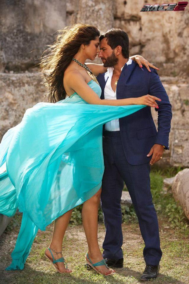 Race 2 Still Deepika Padukone And Saif Ali Khan Bollywood Pictures Bollywood Celebrities Bollywood Actress