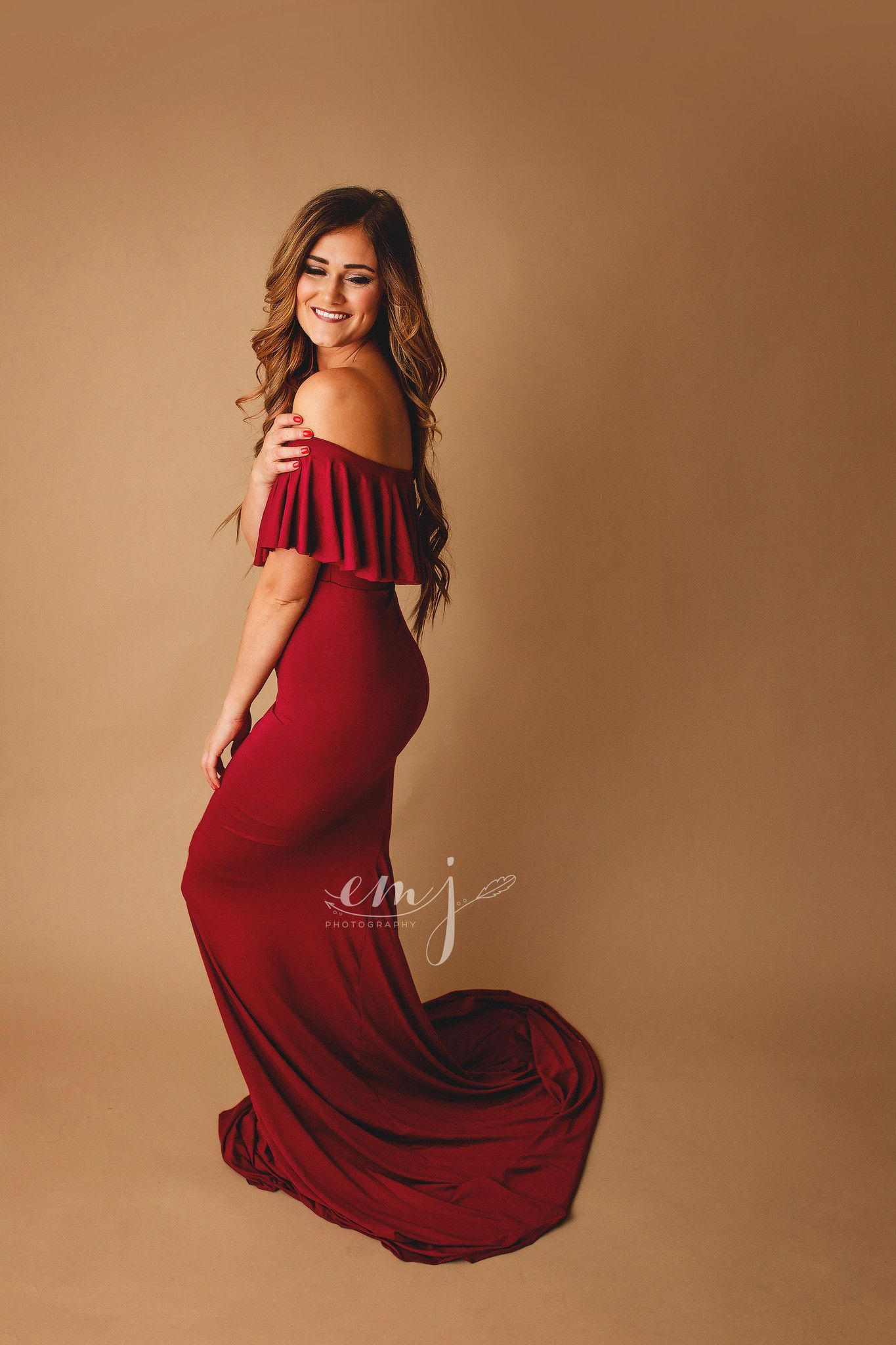 526737b0b5753 Colbie Gown • Fitted Maternity Gown • Ruffle Top Maternity Gown • Off  Shoulder Maternity Gown • Slim Fit Gown • Sweetheart Style Dress •  Bridesmaid Dress ...