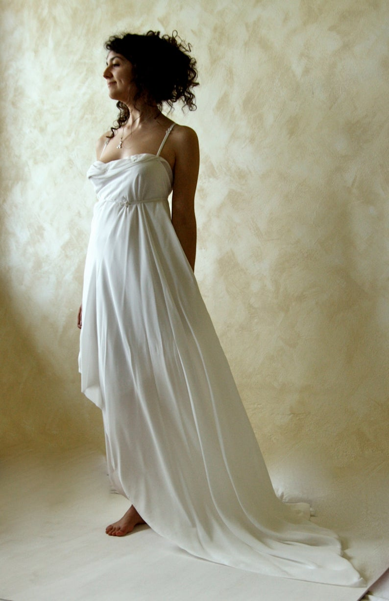 Wedding dress, backless wedding dress, silk dress, open back wedding dress, Boho wedding dress, ethereal wedding dress, fairy wedding dress #grecianweddingdresses