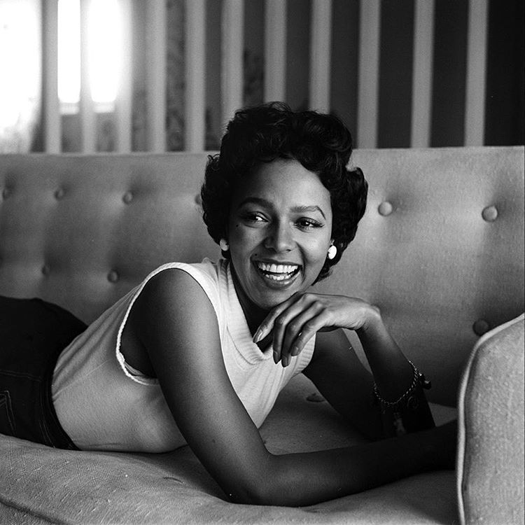 life:  An unpublished frame at Dorothy Dandridge at home in 1954. (Allan Grant—The LIFE Picture Collection/Getty Images) #LIFElegends