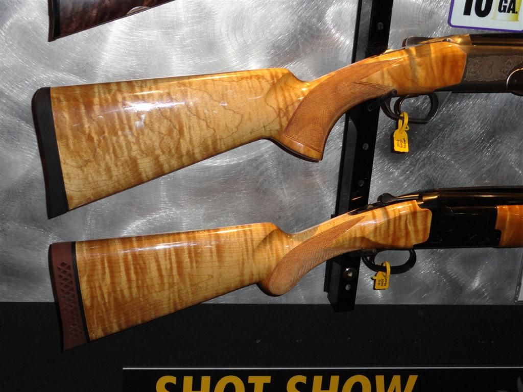 Browning shotguns with thermally modified curly maple stocks    Hot