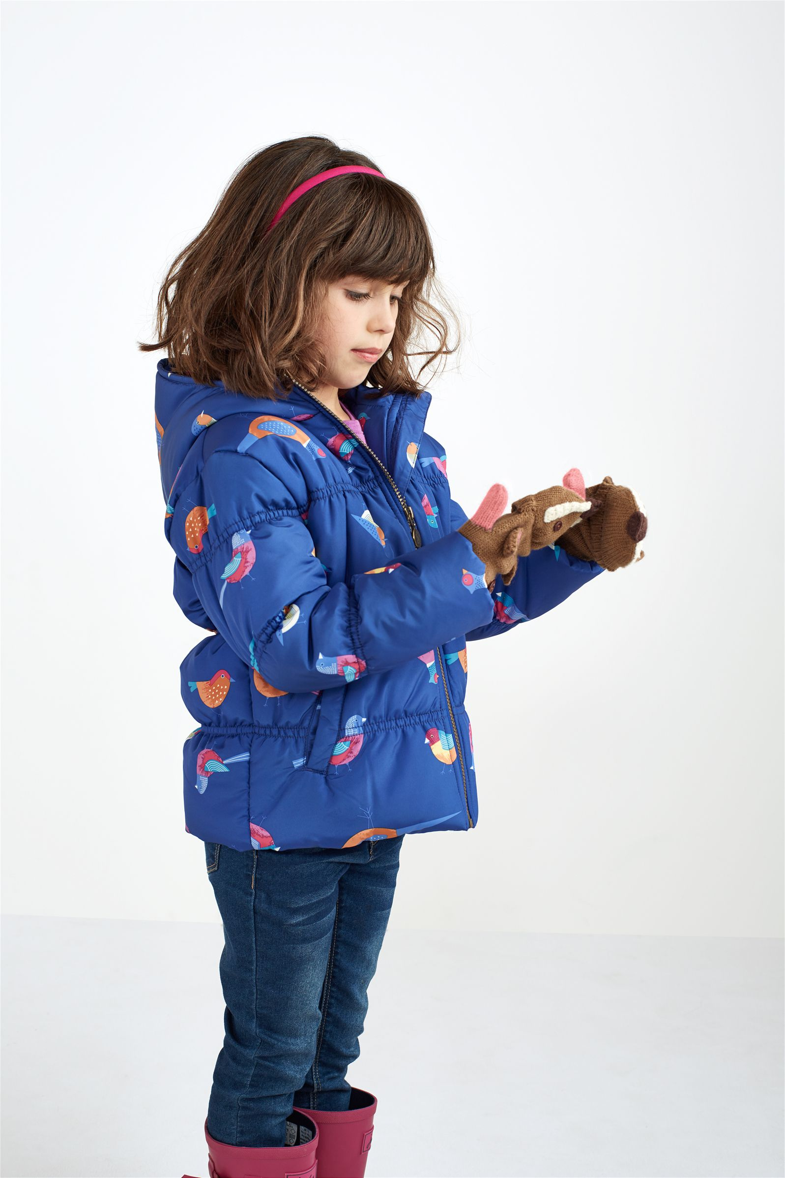 JNR BETHANY Girls' Padded Blue Jacket. Keep her warm and snug ...