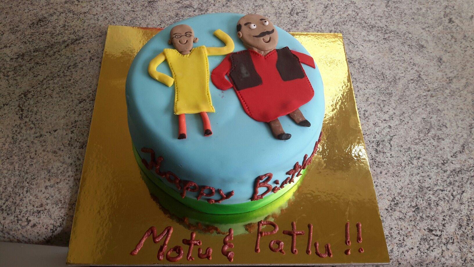 Motu Patlu Cake Cake Cake Decorating Tire Cake