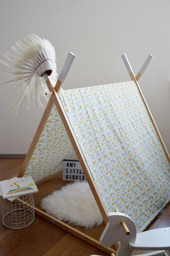 My Little Giggles A Frame Kids Play Tent / Teepee With Clothes Rack ...