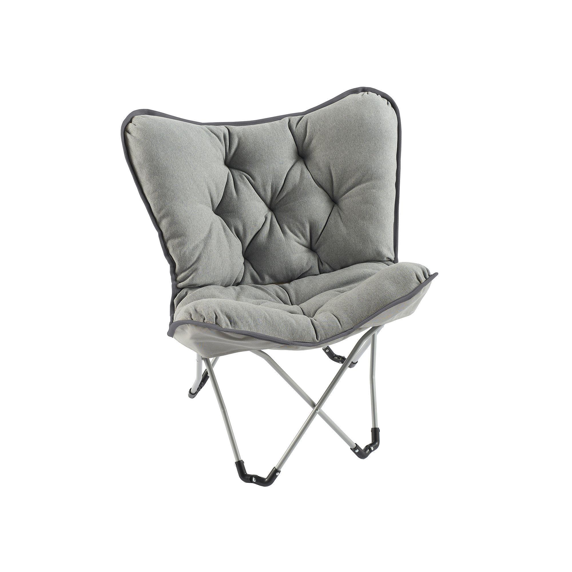 Simple By Design Memory Foam Butterfly Chair Grey Butterfly