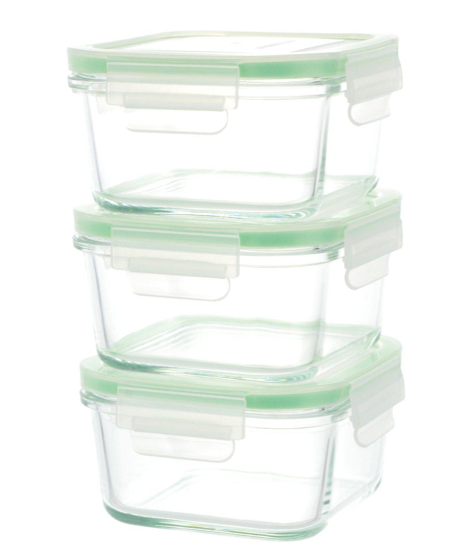 Amazon Com Kinetic Gogreen Glassworks Series 6 Piece Square Oven Safe Glass Food Storage Container Set 15 Oun Food Storage Set Food Storage Glass Food Storage