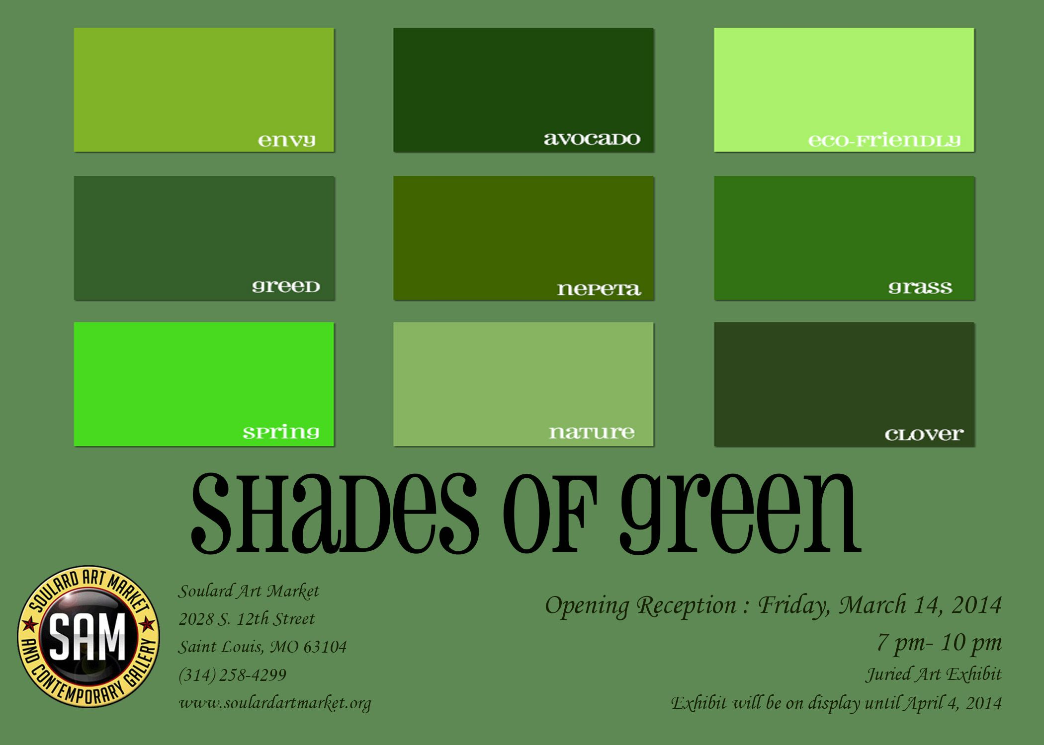 Paint Colours Colors Shades Of Green Will Run From March