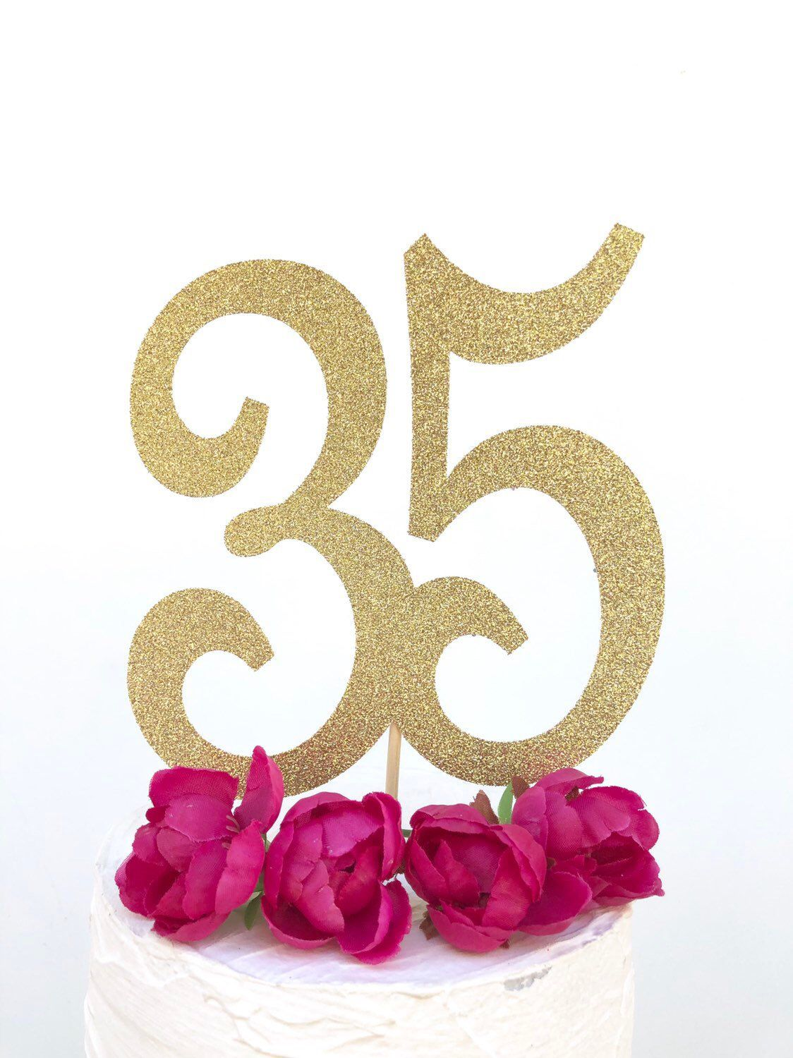 "8 Happy Birthday Candle Large Glitter Number Cake Topper 5/""  Party Decoration"