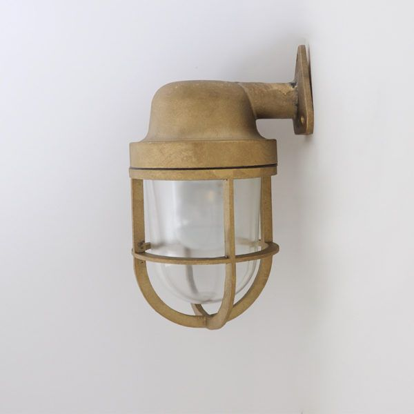 Marine wall light shop lights alcove and wine bars our brass marine wall light is a sweet little number with toughened glass and a mozeypictures Choice Image