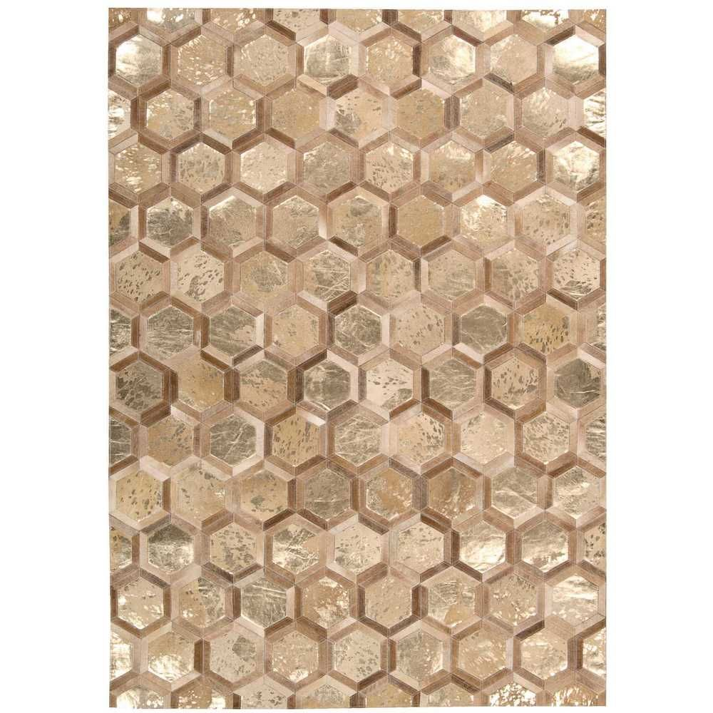 Michael Amini City Chic Amber Gold Area Rug By Nourison 8 X 10