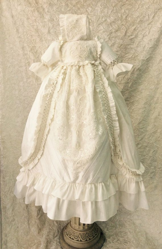 Christening Heirloom boy or girl gown // by ElenaCollectionUSA ...