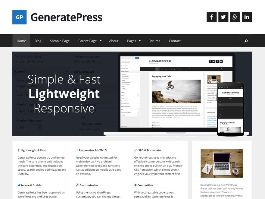 WordPress › GeneratePress « Free WordPress Themes | WordPress Themes ...