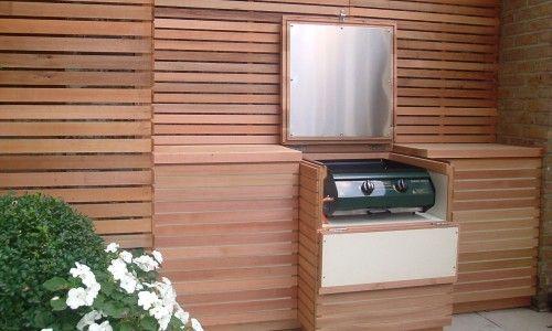 Cedar Bbq Unit Outdoor Bbq Kitchen Contemporary Garden Built In Bbq