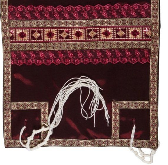 Unique Red Tallit Prayer Shawl set, Tallis, Bar or Bat Mitzvah gift, Jewish wedding, Jewish prayer shawl, matching Tallit bag, OOAK #prayershawls