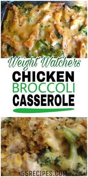This healthy casserole is filled with chicken, broccoli and mushrooms in a cream... - Essen und trin...