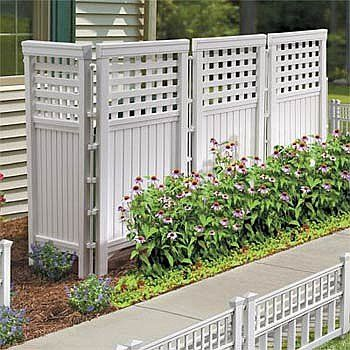 Attractive Improvements Resin Outdoor Privacy Screen  White   4359383 | HSN