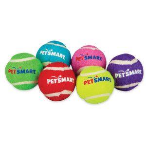 Grreat Choice Petsmart Logo Mini Tennis Balls Dog Toy Toys Petsmart Dog Toys Petsmart Dog Ball