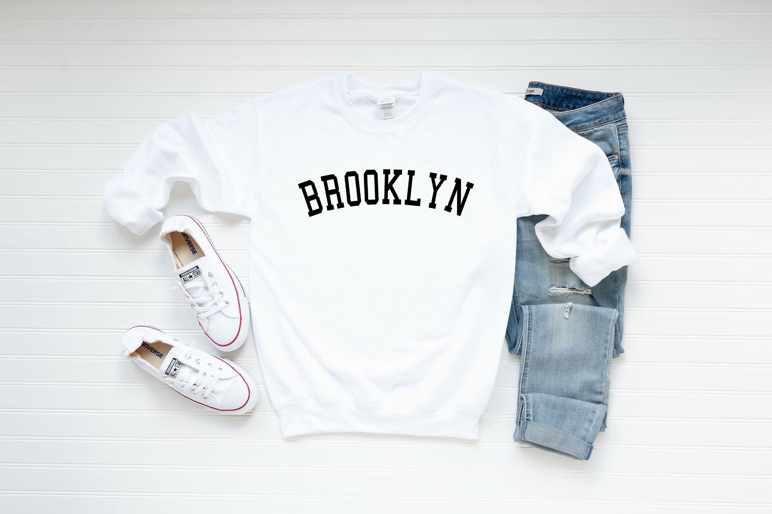 Brooklyn Sweatshirt Brooklyn Crewneck Sweatshirt Brooklyn Etsy [ 1664 x 2500 Pixel ]