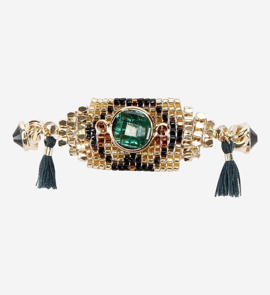 code promo fbafd c26ae Bracelet Alya Hipanema en noir - Galeries Lafayette | Bijoux ...