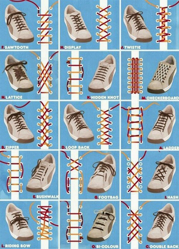 765a50a2e588f8 Cool ways to lace up your shoes | oks | Tie shoelaces, Ways to lace ...