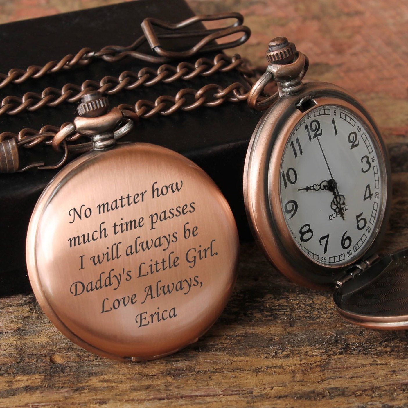 00922ebf0 Personalized Men's pocket watch! Perfect Father's Day gift! Customize with  your own special message!