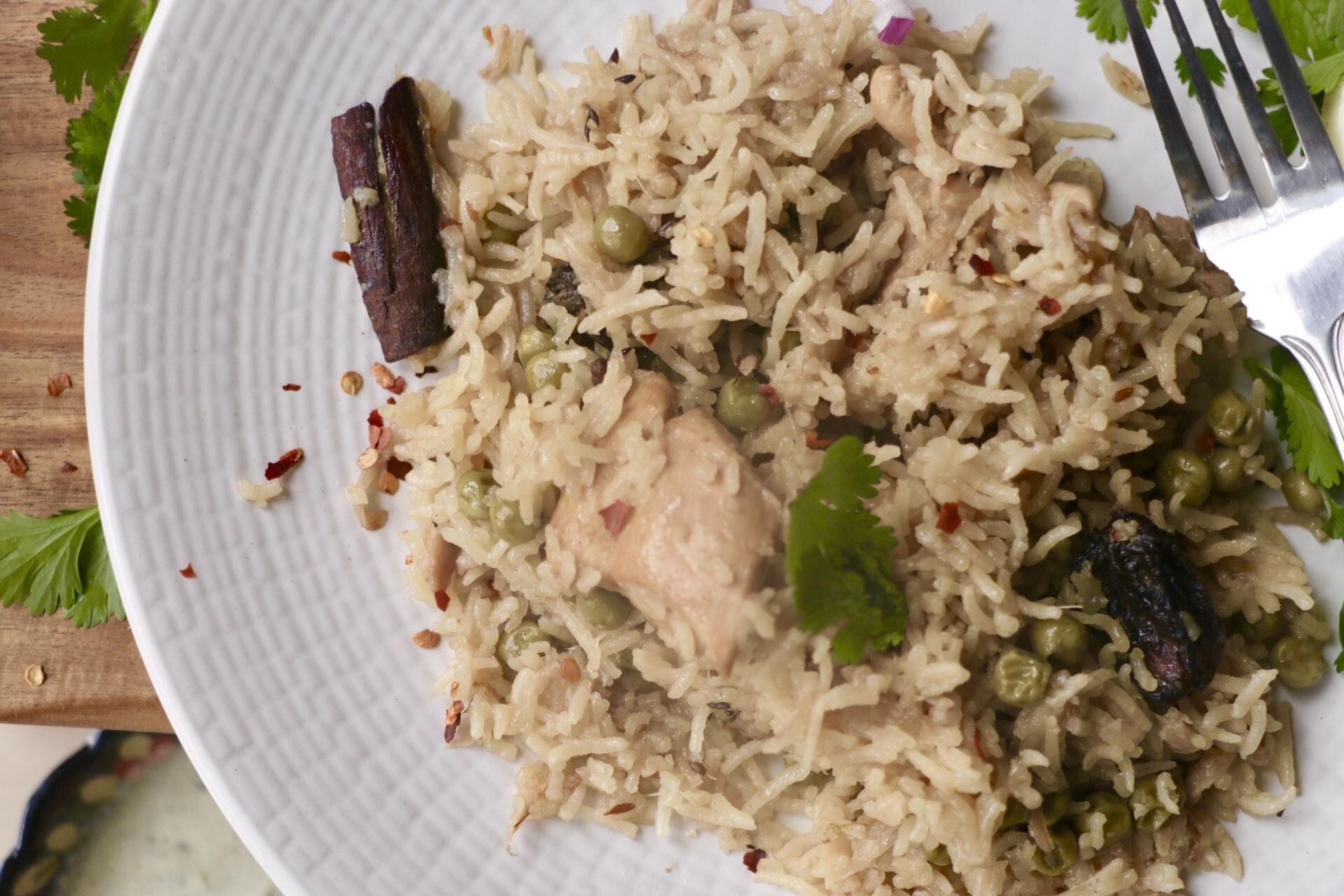 Pakistani Pulao Rice Rice Seasoned In Chicken Stock Black Cardamom