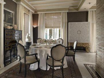 Houzz Window Treatment Dining Room Window Treatments Traditional Dining Rooms Luxury Dining Room