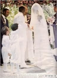 Whitney Houston wedding gown by Marc Bouwer