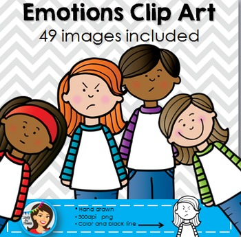 Emotions Kids Clip Art *Please download the preview to see the ...