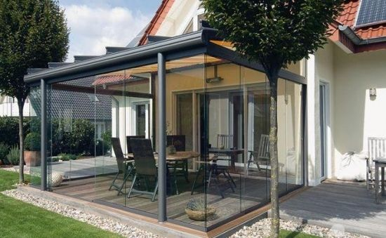 terrassenglasdach alu veranda verglasung berdachung ideen rund ums haus pinterest pergola. Black Bedroom Furniture Sets. Home Design Ideas