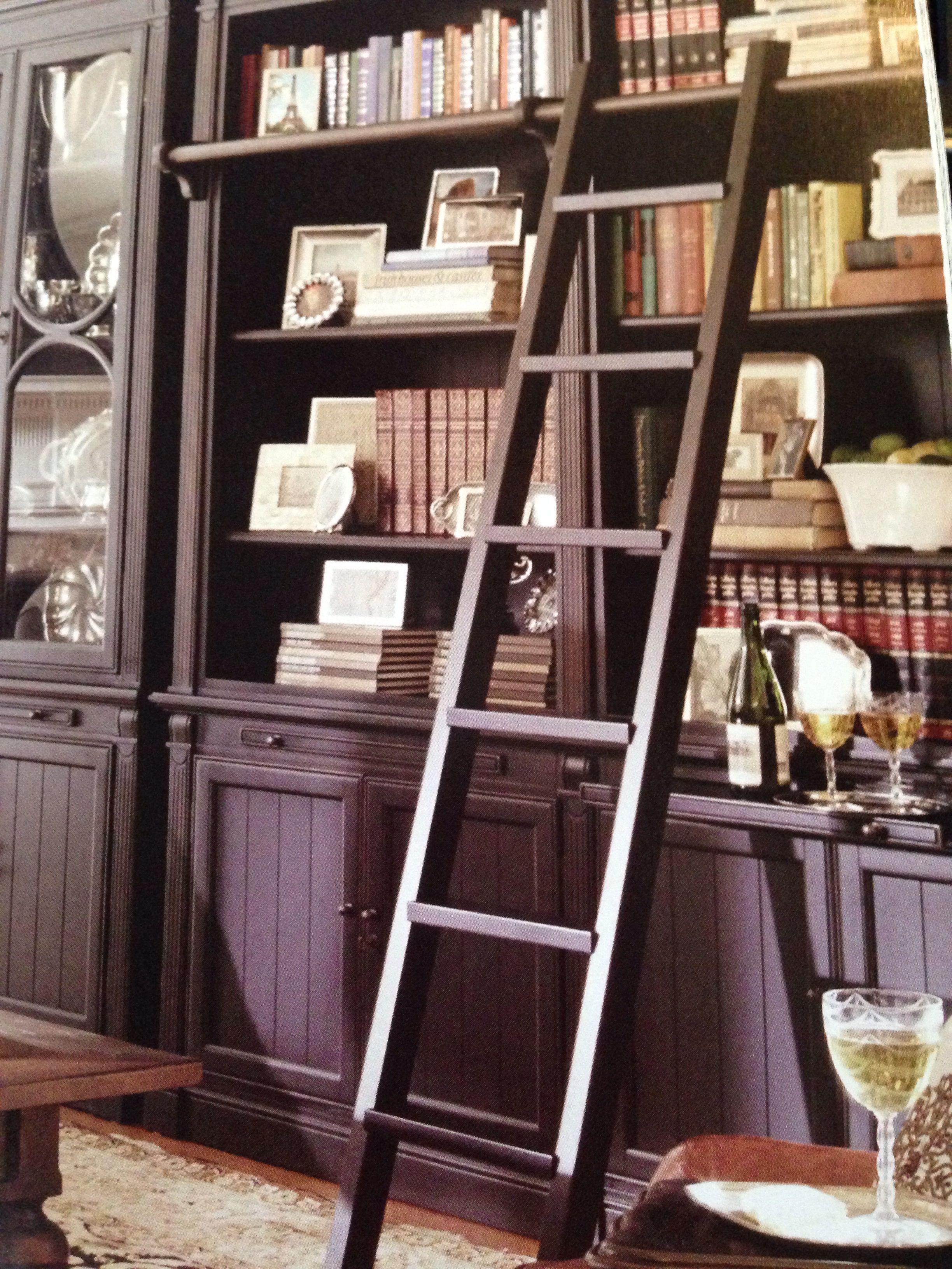 Ladder for tall bookshelves Tall bookshelves, Home decor
