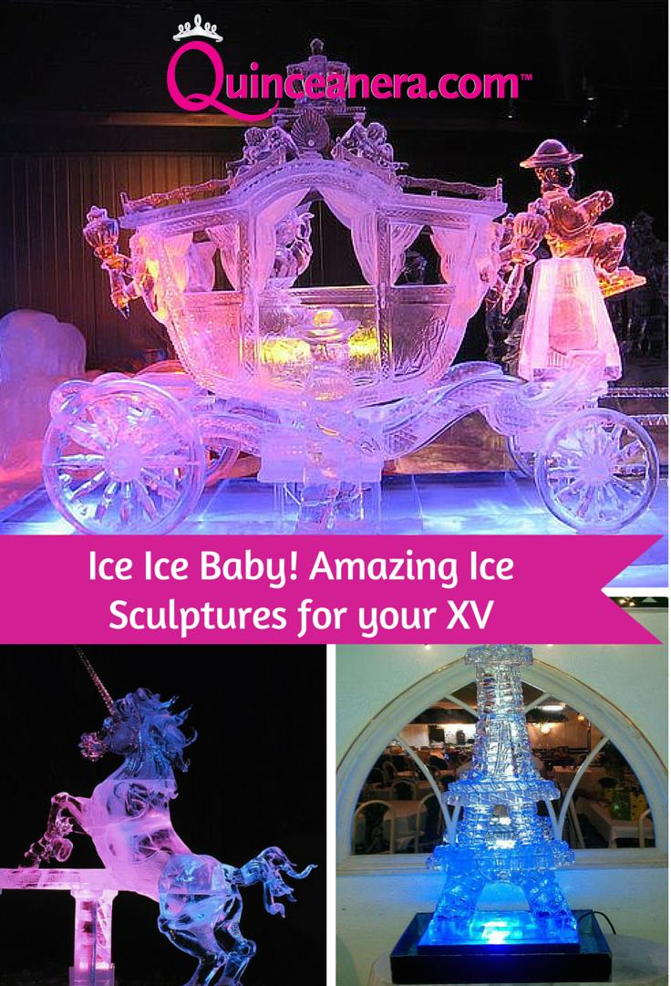 Paris decorations for quinceaneras - Ice Ice Baby Ice Sculptures For A Unique Quincea Era Party
