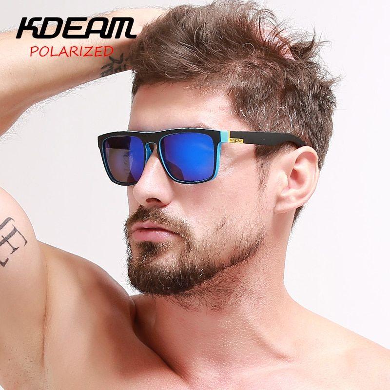 Aliexpress Com Comprar Altamente Recomendado Kdeam Espejo Polarizado Gafas De Sol Hombres Plaza Depo Gafas De Sol Lentes De Sol Hombre Gafas De Sol Deportivas