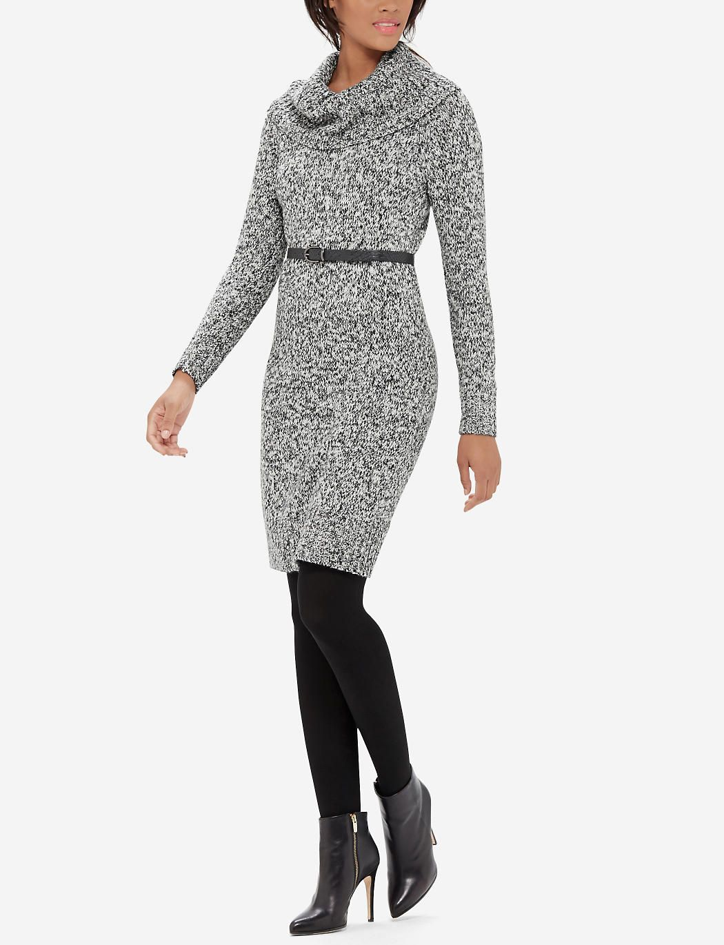 Marled Cowl Neck Sweater Dress | Women's Dresses | THE LIMITED ...