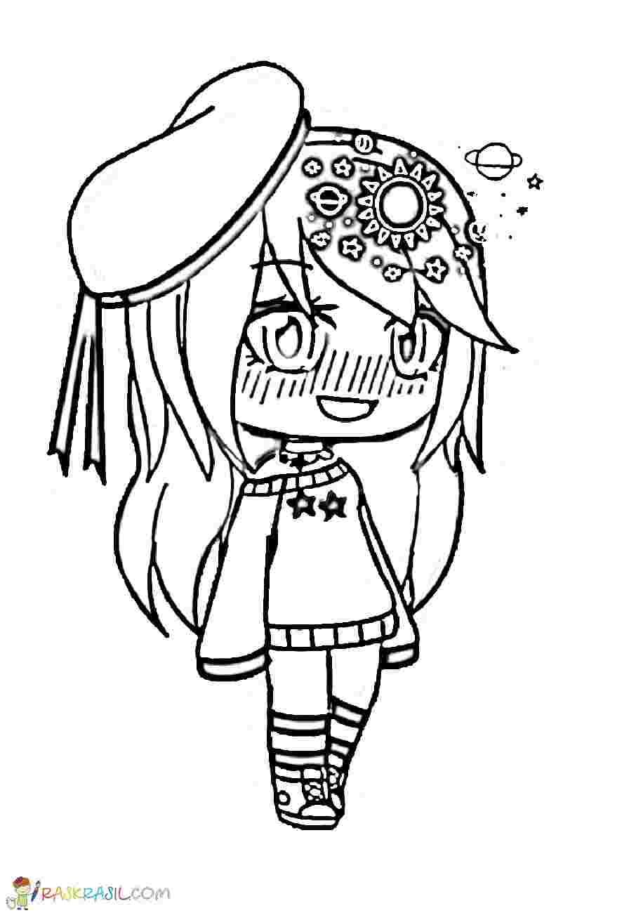 Gacha Life Coloring Pages Cute