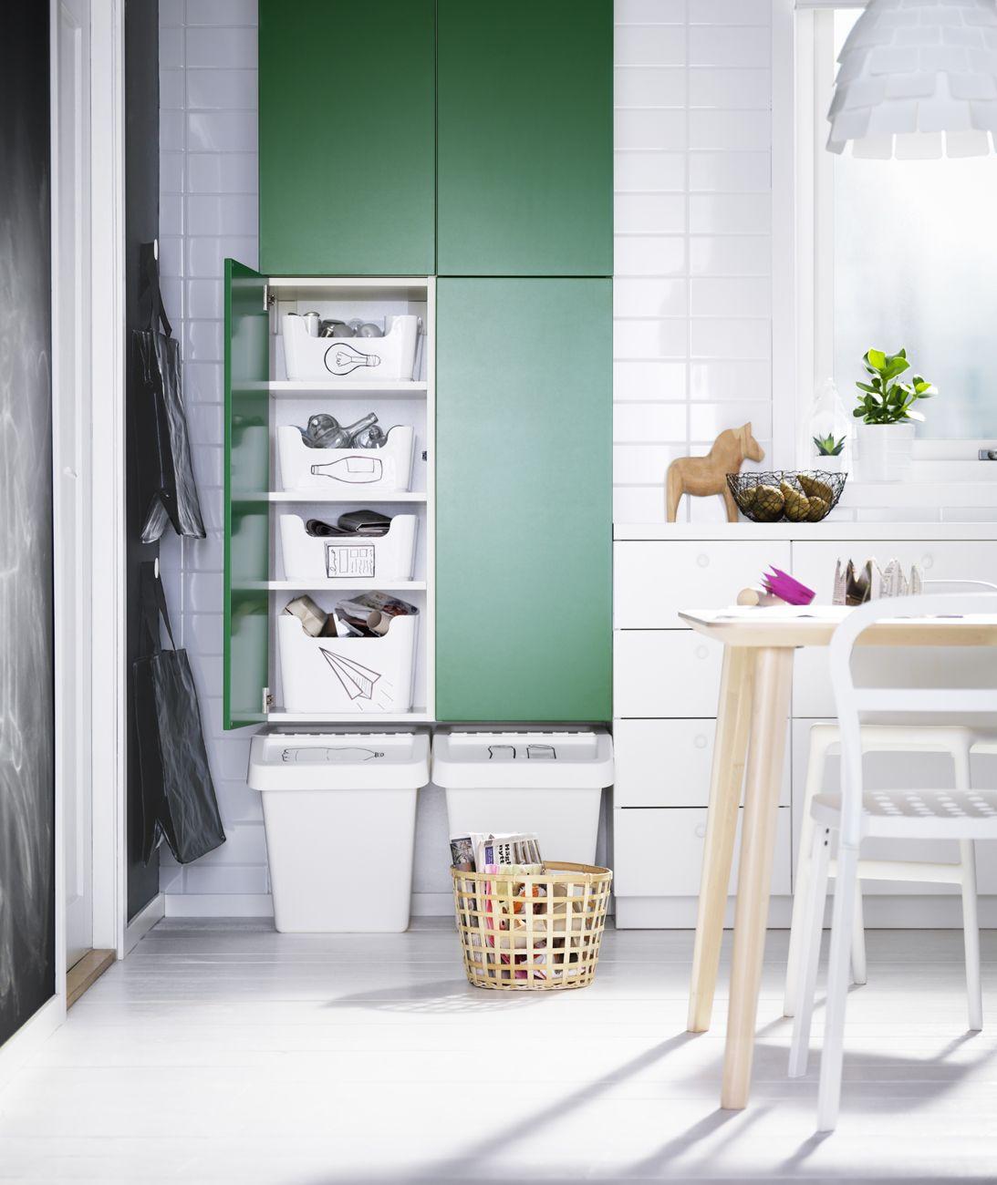 Cucine piccole: 30 idee per arredarle | Mono cucina Ikea | Pinterest ...