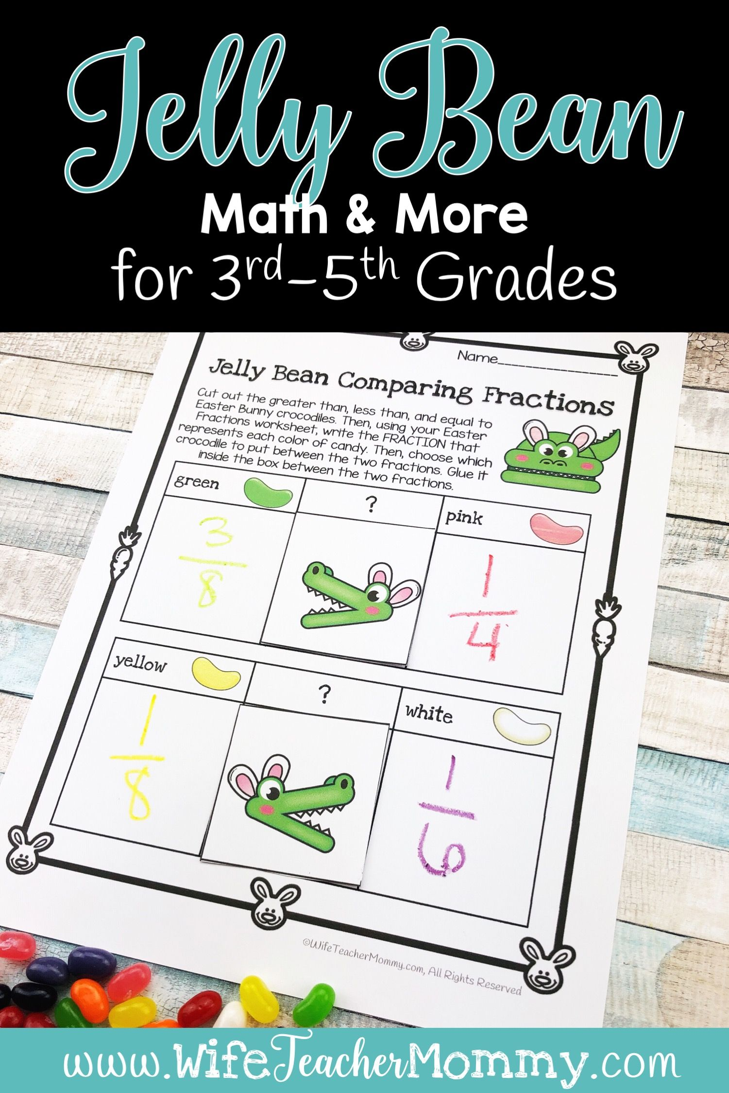 Easter Jelly Bean Math Amp More For 3rd 4th And 5th Grades