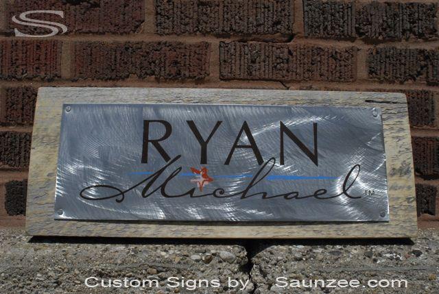 saunzee custom steel signs brushed steel sign brush steel sign