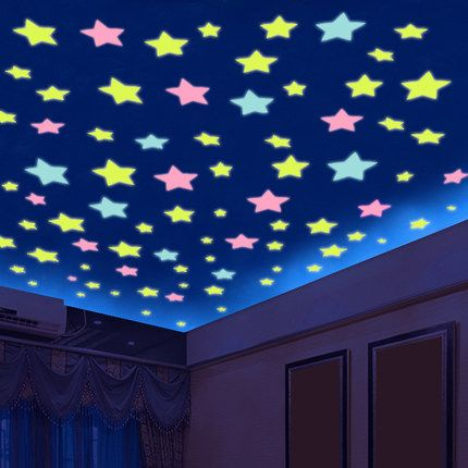 Buy Glowing Stars And Moon For Baby S Bedroom Corridor Ceiling Wall Stickers Bedroom Wall Stickers Home Decor Baby Room Wall Decals