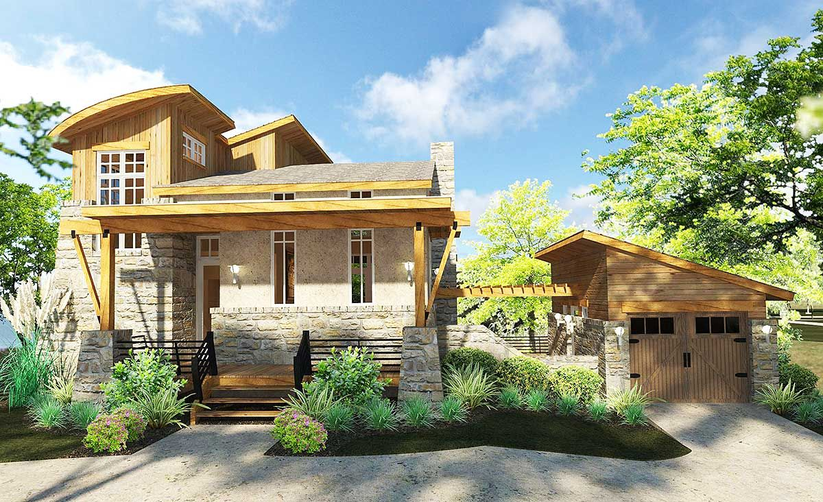 Plan 16890wg Minimalism With Style In 2020 Tuscan House Plans Tuscan House Contemporary House Plans