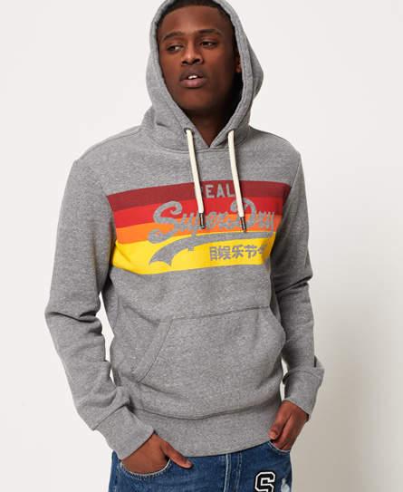 Superdry Mens Vintage Logo Stripe Hoodie