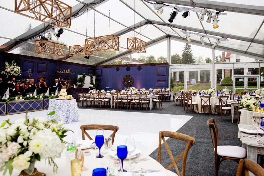 Stunning Tented Wedding Reception At The Historic Chicago Golf Club
