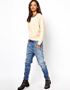 eefd26fd3000b Diesel Fayza Boyfriend Jeans   The Look   Pinterest   Jeans ...