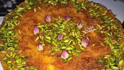 طريقة عمل احلى كنافه بالقشطه بالصور Recipe Middle Eastern Desserts Arabic Sweets Food