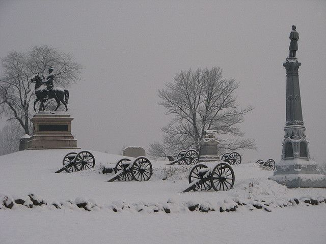 Image result for gettysburg in winter images