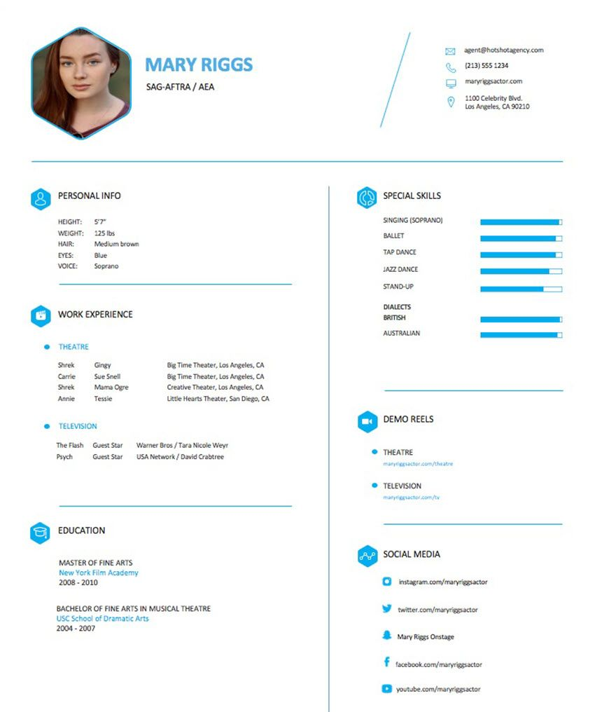 How To Make An Actor Resume For Theatre And Performing Arts Jobs Inside Theatrical Resume Template Word Acting Resume Template Resume Template Word Jobs In Art